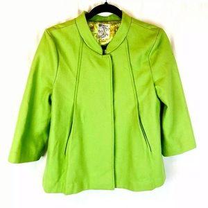 Anthropologie Tulle Women's Sz L Lime Green Jacket